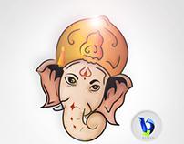 Vinayaka chatirti design by b.lovedesign