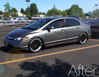 Honda Civic: Before and After Image