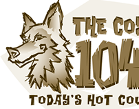 Coyote Radio 104.3 Logo Concept