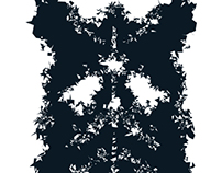 Digital version of Andy Warhol Rorschach
