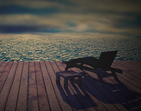 A beautiful sea view in maya 3d