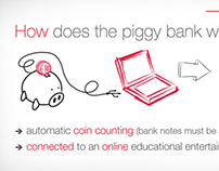 """Présentation """"The connected piggy bank story"""""""