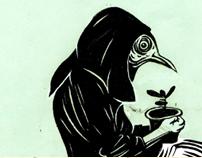 Black-and-white illustration