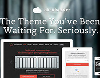CloudServer - One Page Responsive Hosting Theme