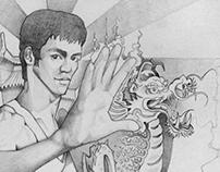 Bruce Lee Illustration