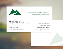 Law Office of Michael Grim - Business Cards
