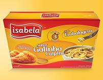 Macarrão instantâneo Isabela - Sabor Galinha Caipira