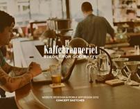 Kaffebrenneriet website & app concept 2012