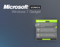 Microsoft Somos Windows 7 Gadget
