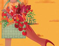 """""""Italian cuisine"""" - magazine cover"""