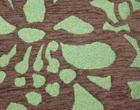 Textile Design Chenille Floral
