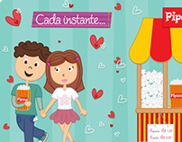 Casal no cinema / Cartão