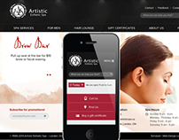 Artistic Esthetic Spa - Website Redesign