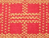 Geometric Boucle Textile Design