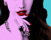 Pop art Lana Del Ray