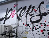 PIXERS Office Mural