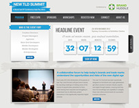 New TLD Conference Website - Brand Huddle
