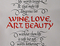 Calligraphy Wall Piece
