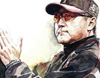 korea baseball team illust