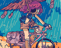 Bycicle girl animation