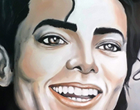 Michael Jackson - oil on canvas