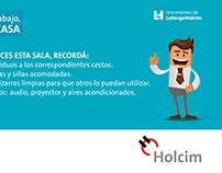 """Cartones para mesa """"Mi trabajo mi casa"""" para Holcim ARG"""