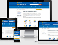 WVU Research Responsive Redesign: Main Sections