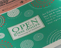 Open Glass Doors - Art Exhibition Design & Identity