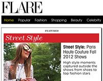 Flare Magazine Responsive Site Redesign