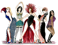 "Conceptual Costume Design for ""La Cage Aux Folles"""