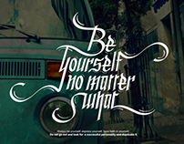 BE YOURSELF - Calligraphy poster & shirt