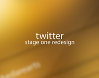 Twitter redesign stage 1