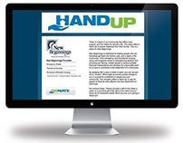 Hand Up Landing Page