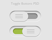 Toggle Buttons PSD - Free