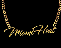 Miami Heat Gold Chain T-shirt Concept