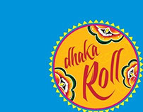 """Dhaka Roll"" logo design"