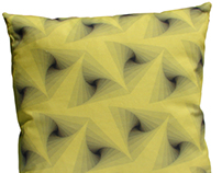 Yellow Geo Cushion