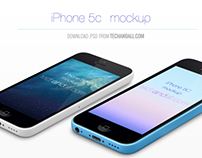 iPhone 5C Perspective Mock up