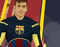 Captain Barcelona - Neymar Vector ART