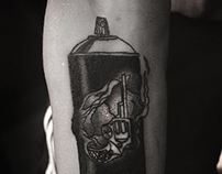 Can & Revolver Tattoo