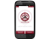 Love2Ride: Gps navigation mobile application for bikes
