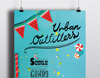 Window display design for Urban Outfitters (Conceptual)