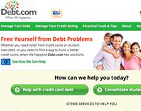 Financial Debt Website Design & Wordpress