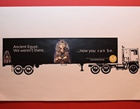 Ads on trucks for the Met
