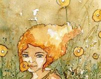 "Watercolor portrait of a woman ""11 """