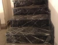 Treppen aus Grigio Carnico Marmor