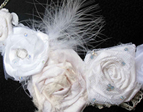 White Roses with Pearls