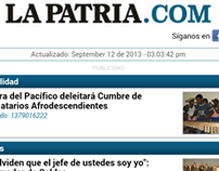 Mobile Site La Patria