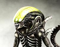 Xenomorfo o Aliens Infographic