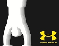 Under Armour bus shelter ad